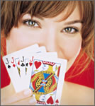 Inside Magic Image of Woman With Winning Hand