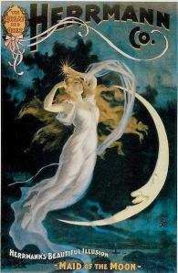Inside Magic Image of Herrmann's Astarte or Maid of the Moon Illusion