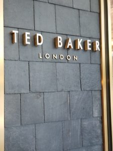 Shingles from the Magic Castle on the Ted Baker Storefront